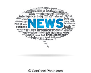Speech Bubble - News - Speech bubble with the word news on...