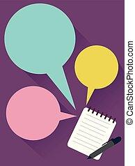 Speech Bubble Notes Illustration