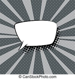 Speech Bubble on Gray Retro Background