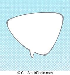 Speech Bubble on Pop Art Background