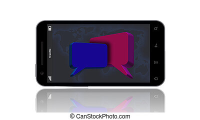 Speech Bubble on the Smart Phone