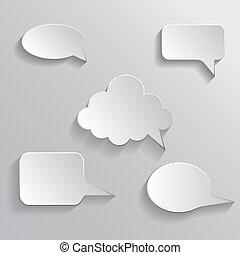 Speech bubble paper