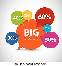 Speech bubble pointer for sale item