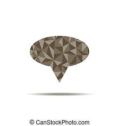 speech bubble polygon