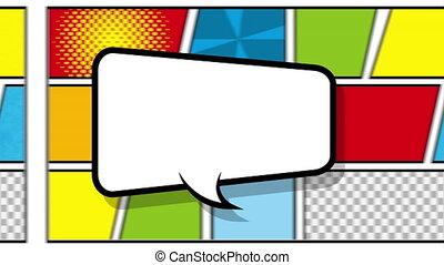 speech bubble pop art style animation - speech bubble pop...