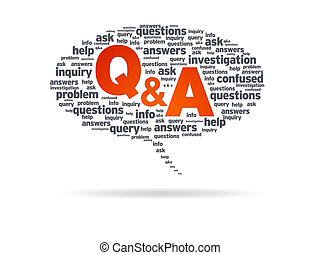 Speech Bubble - Q&A - Speech bubble with the words Q&A on...