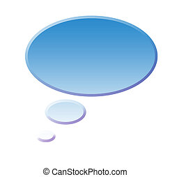 Speech bubble ready for your text