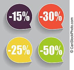 Speech Bubble Sale Label Illustration