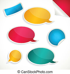 Speech Bubble set and stickers