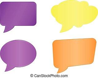 speech bubble set web icons on white background