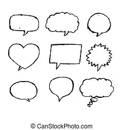Speech Bubble Sketch hand drawn