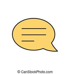 speech bubble sms social media icon