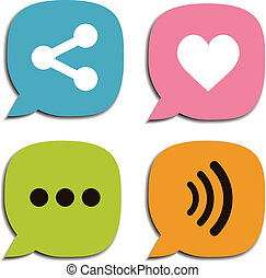 Speech bubble social media and chat