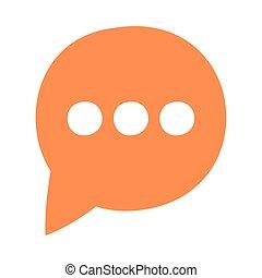 speech bubble social media icon