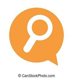 speech bubble social media isolated icon