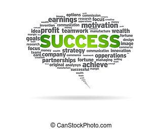 Speech Bubble - Success