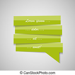 Speech Bubble Template Vector Illustration