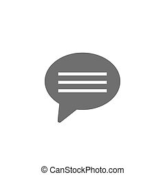 speech bubble thin, line icon on white background isolated flat