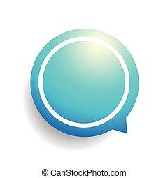 Speech bubble vector blue