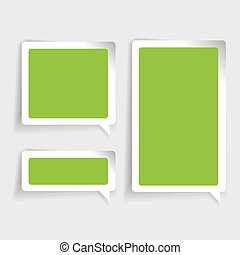 Speech bubble vector green
