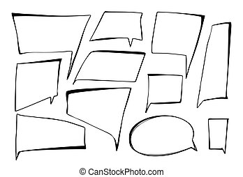 Speech Bubble Vector Icon Hand Drawn Imitation