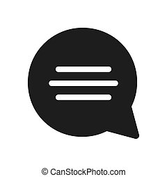 Speech bubble vector icon in modern design style for web site and mobile app