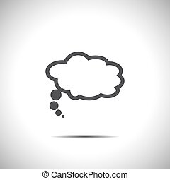 speech bubble vector icon white