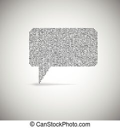 Speech bubble, vector illustration.