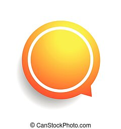 Speech bubble vector orange