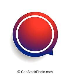 Speech bubble vector red