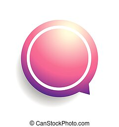 Speech bubble vector violet