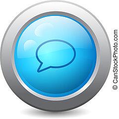 Speech bubble web button