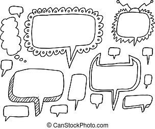 Speech Bubble Wild Doodle Set