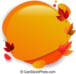 Speech Bubble With Autumn Leaves Background