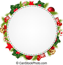 Speech Bubble With Christmas Symbol