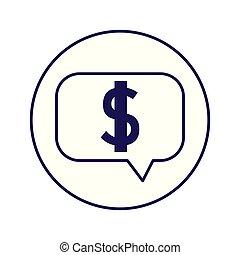 speech bubble with dollar symbol