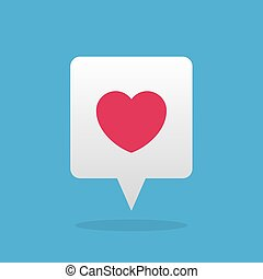Speech Bubble with Floating Heart