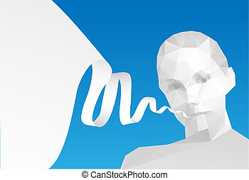 Speech Bubble with head, vector