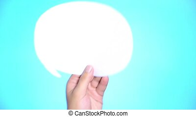 Speech bubble with light bulb idea concept. Bubble speech...