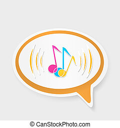 speech bubble with notes