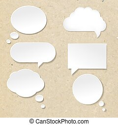 Speech Bubble With Old paper