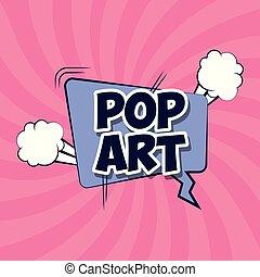 speech bubble with pop art word