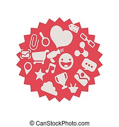 speech bubble with social media icons