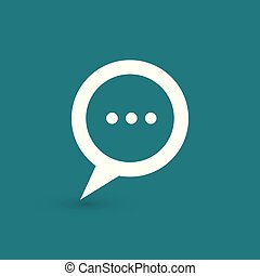 Speech bubble with three dots-vector