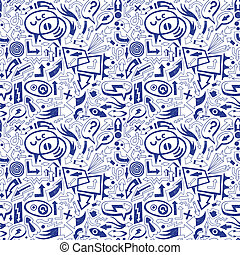speech bubbles and arrows - seamless pattern