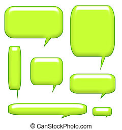 speech bubbles and balloons isolated on a white background