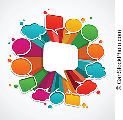speech bubbles poster with space for text