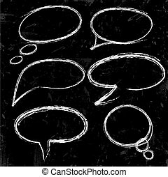 speech bubbles chalked