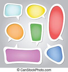 Speech Bubbles - Colorful speech bubbles collection set