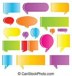 Speech bubbles colorful vector abstract set